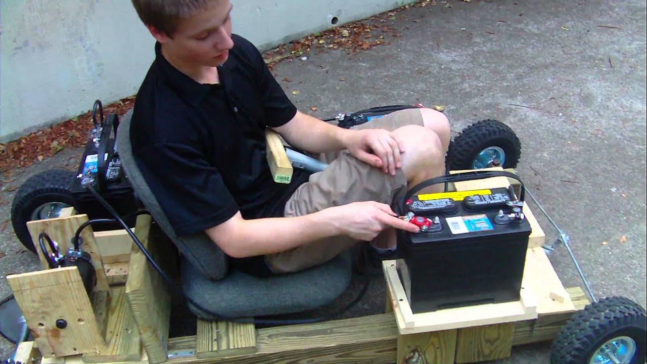 Electric Homemade Wooden Go Kart Run 3 Youtube
