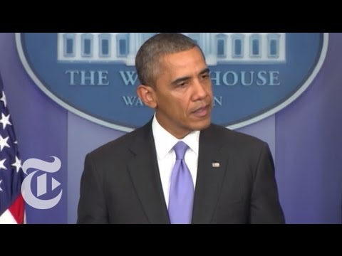 Obama Speech on End of Government Shutdown   The New York Times