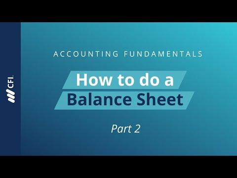 Constructing a Balance Sheet - Accounting Fundamentals Part 2 of 6