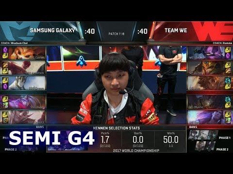 Team WE vs Samsung Galaxy | Game 4 Semi Finals S7 LoL Worlds 2017 | WE vs SSG G4