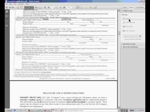 Fill out an Adobe PDF Document and send
