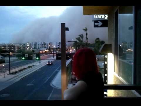 Dust storm in Tempe, AZ