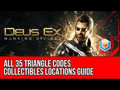 Deus Ex Mankind Divided - All 35 Triangle Code Collectibles Locations (Scan Codes)