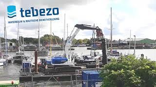 Werkzaamheden Jachthaven 't Dok in Farmsum, Nederland