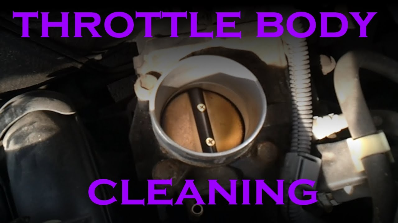 throttle body cleaning 4 cylinder toyota youtube