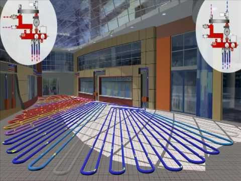 Underfloor Heating Amp Cooling System Open Space Youtube