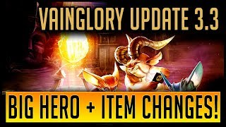 NEW VAINGLORY UPDATE! | Update 3.3 Update Notes Review