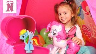 Палатка Май Литл Пони с сюрпризами в шариках Squishy Pops Пинки Пай My Little Pony