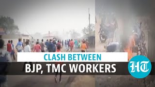 West Bengal: TMC, BJP workers clash in Asansol; vehicles burnt, bombs hurled