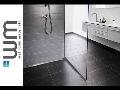 how to install a wet room and linear centre drain. Black Bedroom Furniture Sets. Home Design Ideas