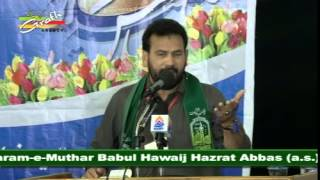 Musayyab Rizvi Pakistan | Jashn-e-Babul Hawaij 2015 | 4th Shaban 1436 | Karbala Iraq