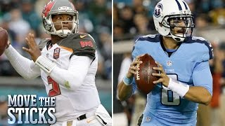 Better season so far: Jameis Winston or Marcus Mariota? | Move the Sticks | NFL