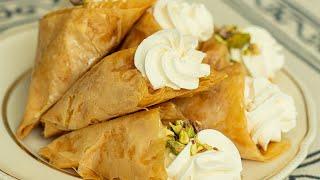 Greek Cream Filled Phyllo Cones: Trigona Panoramatos