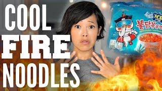 COOL FIRE Noodle Challenge | Samyang ICE Type Ramen