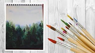 как нарисовать лес акварелью /art make(Ну вот видео на канале!!! Думаю тебе оно понравится и ты поставишь лайк     И Подпишишся на мой канал ✓-..., 2016-07-25T09:38:46.000Z)
