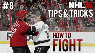 NHL 16: Tips & Tricks #8 - How To Fight(Fighting has become a lost art in the NHL series. I'm here to change that. In this video, I'll break down the individual mechanics of fighting, that will hopefully help ..., 2015-12-21T20:00:03.000Z)