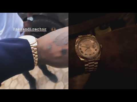 Burna Boy Shows Off N3 Million Rolex Watch Gifted Him By Sesan