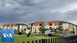 Winds Send Mattresses Flying at U.S. Open Air Cinema