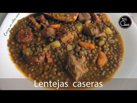 Cómo Hacer LENTEJAS CASERAS Con Carne, Receta Fácil