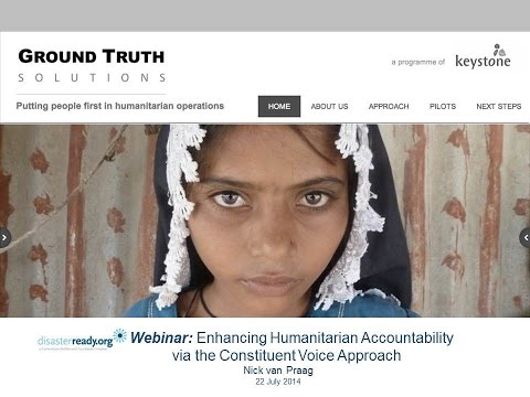 Webinar - Enhancing Humanitarian Accountability via the
