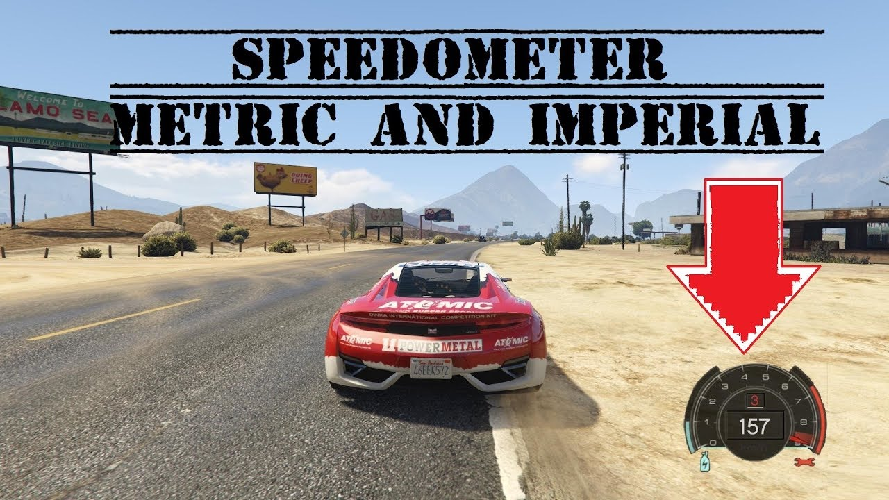 GTA5 How to install Speedometer and Timer (Metric and Imperial / Speed =  mph/kmph/ms)