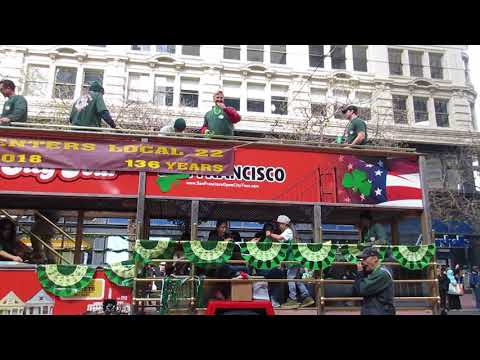 San Francisco St. Patrick's Day Parade 2018 Carpenters Local Union 22