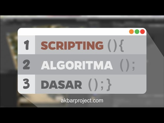 Scripting Unity3D | Struktur Algoritma Dasar