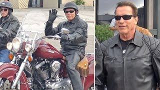 Leather-Clad Arnold Schwarzenegger Chuckles About 'The Terminator' Taking Out Mayweather & McGregor