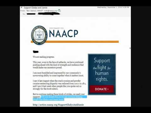 The NAACP exploits the Scott Sisters for Monetary Funds