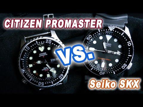 Citizen Promaster NY0040 ( vs. Seiko SKX007 ) - GERMAN