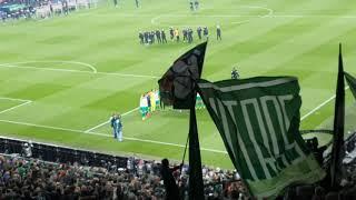 Halbfinaleinzug SV Werder Bremen auf Schalke 03.04.2019