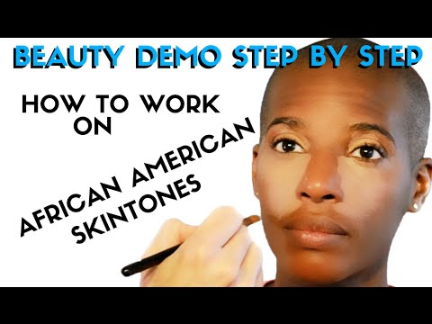 SIMPLE STEPS FOR A CLASSIC BEAUTY MAKEUP ON AFRICAN AMERICAN SKINTONES VIDEO- mathias4makeup