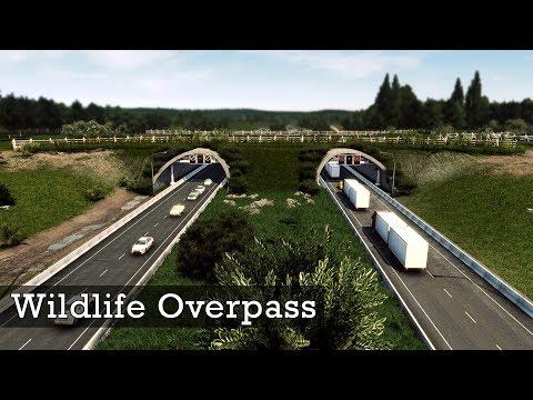 Wildlife Overpass | Wildlife Crossing Highway - Cities Skylines: Custom Builds |