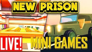 🔴NEW MILITARY UPDATE AND MINI GAMES!!! (ROBLOX Jailbreak)🔴