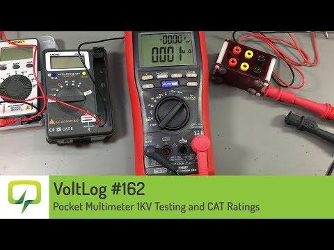 Voltlog #162 - Pocket Multimeter 1KV Testing and CAT Ratings