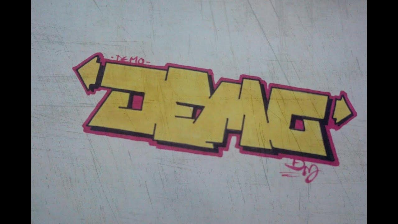 How to hacer graffiti en papel demo hd youtube - Graffitis en papel ...