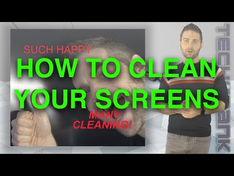 How should you clean ac LCD/ LED/ computer/ TV/ monitor?