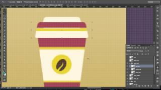Секция 4. Практический урок 3. Photoshop CC видеоурок: Создаем иконку в стиле флэт