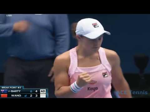 Ashleigh Barty vs Yafan Wang 2019 Australian Open Highlights
