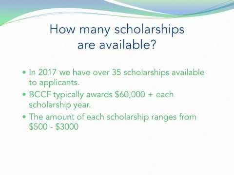 2017 BCCF Scholarships
