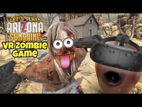 Midget Apple Plays - Arizona Sunshine (VR Zombie Game) |