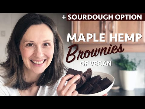 MAPLE HEMP BROWNIES | GF Vegan | Sourdough Starter Option