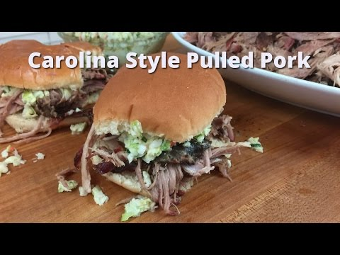 Carolina Style Pulled Pork Sandwiches | Carolina Barbecue on Big Green Egg Malcom Reed HowToBBQRight