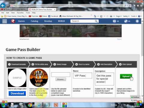 how to create a gamepass on roblox 1   youtube