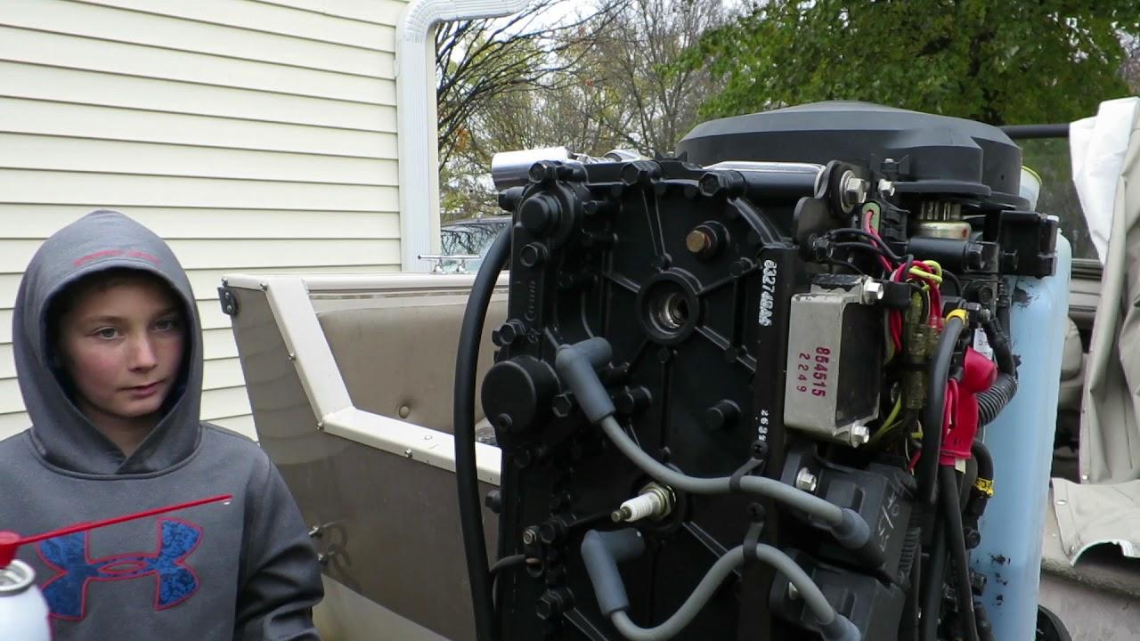Winterizing A 2 Stroke 125hp Mercury Outboard Motor Youtube
