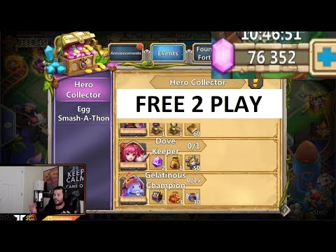 76000 FREE 2 Play Gems Android Hero Collector IMPORTANT Session Castle Clash
