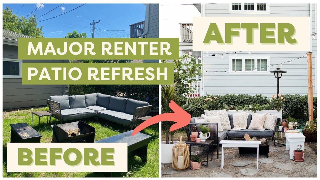 Complete Renter-Friendly Patio Refresh! | Rentfluencer
