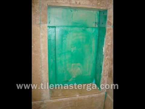 how to shower built in shelf installation ideas atlanta tile