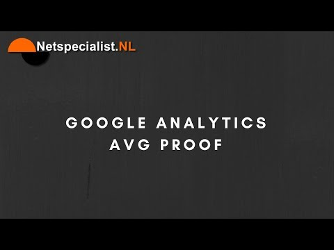 google analytics avg proof