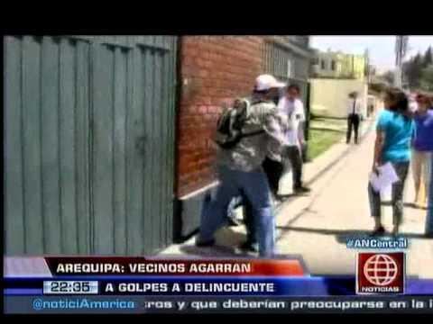 América Noticias: Mira cómo unos vecinos lincharon a un delincuente en Arequipa